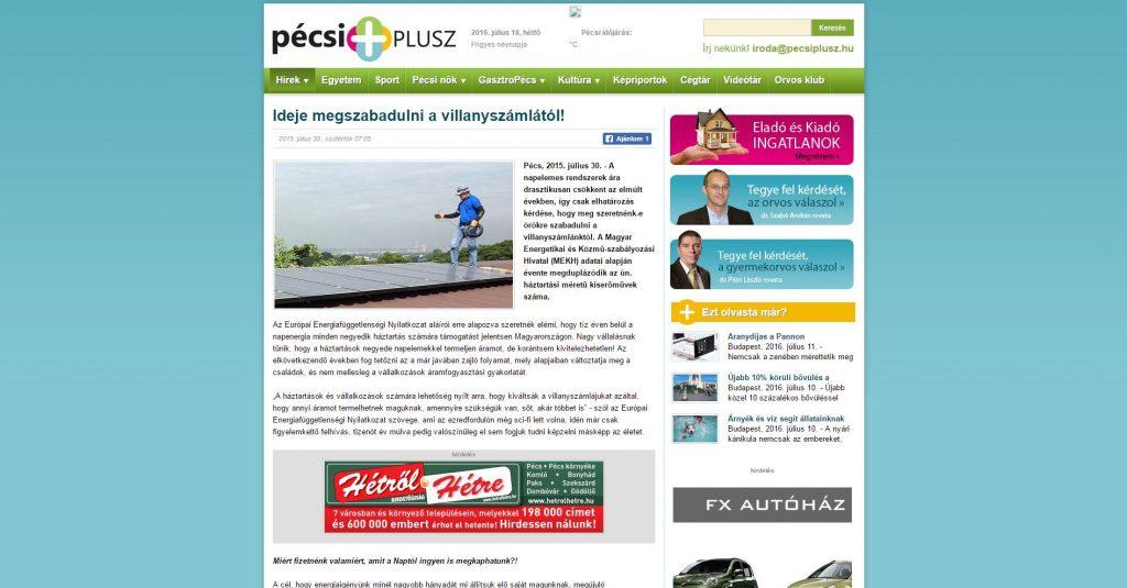 2015.07.30.-Pécsi-Plusz-1024x535 Sajtómegjelenések