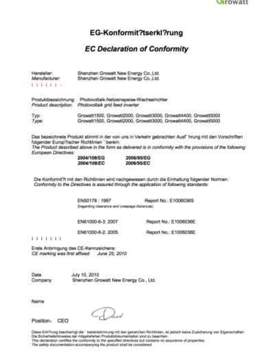 Growatt_CE_DECLARATION_OF_CONFIRMITY_TL_1