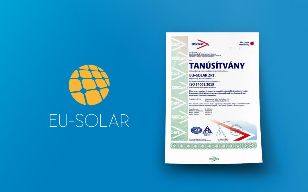 Az EU-Solar zrt. a környezettudatos vállalatok élmezőnyében
