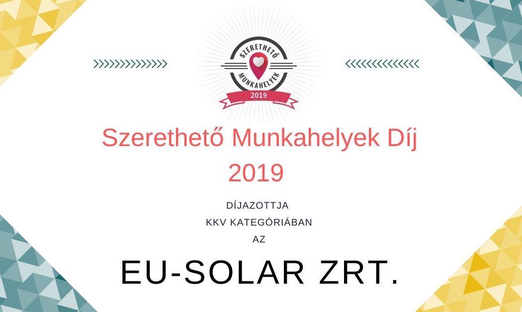 EU-Solar Zrt. – a szerethető munkahely!